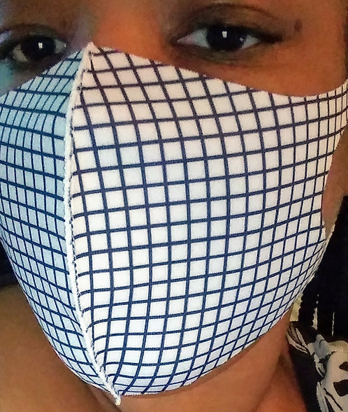 Adult White Square General Use Face Mask