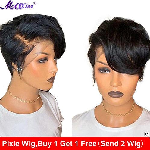 Maxine Pixie Cut Short Wavy Lace Human Hair Frontal