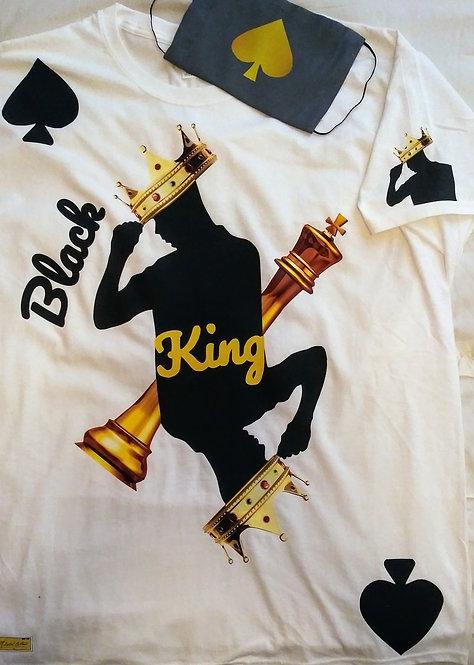 Adult Black King Face Mask & T-Shirt Set