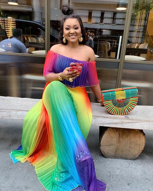 African Dashiki Summer Dress