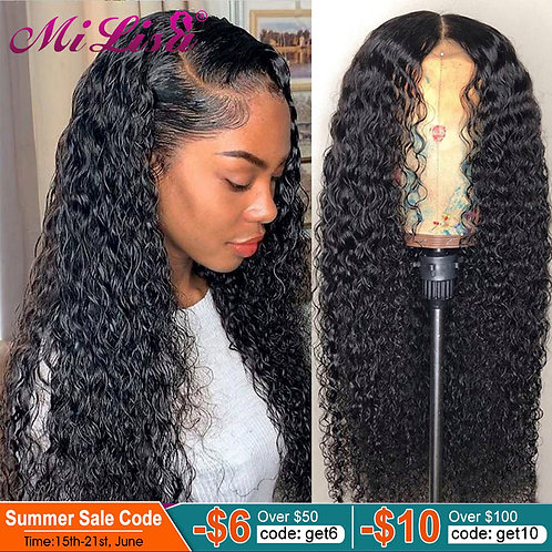 Curly Lace Front Human Hair Wigs 13X6 Transparent HD Lace Frontal Wigs 30 Inch