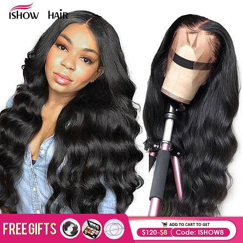 Ishow Body Wave Lace Front 360 Wig Pre Plucked