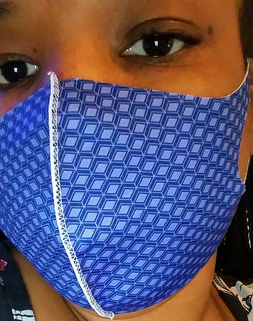 Adult Blue Bloc General Use Face Mask