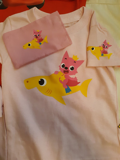 Baby Shark Shirt & Face Mask set