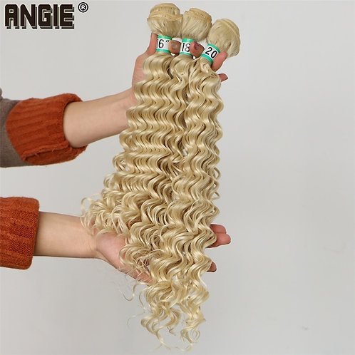 ANGIE Deep Wave Curly Synthetic Hair 16 18 20 Inches