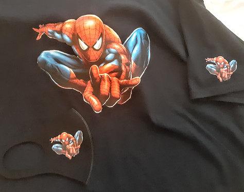 Adult Spider Man dsgn2 Face Mask & T-Shirt Set