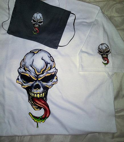 skull Face Mask & T-Shirt Set