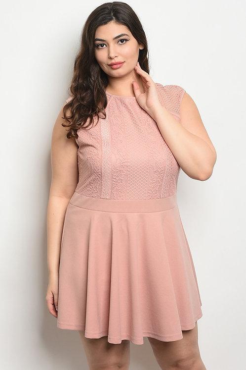 Mauve Plus Size Dress