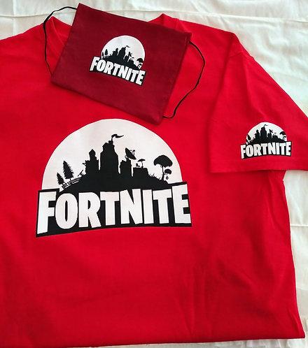 Kids Fortnite T-Shirt & Face Mask set