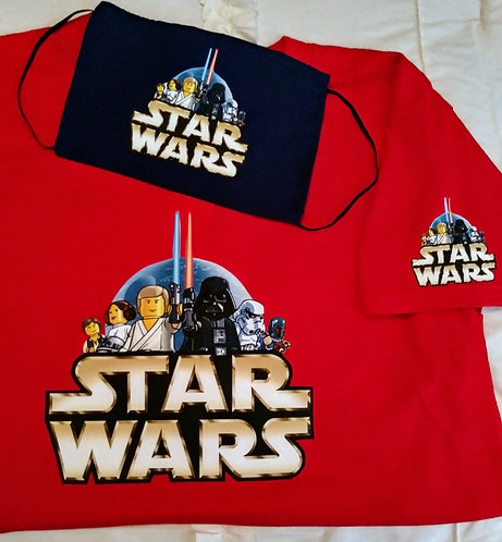 Kids Starwars T-Shirt & Face Mask set