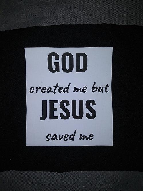 GOD created me Face Mask