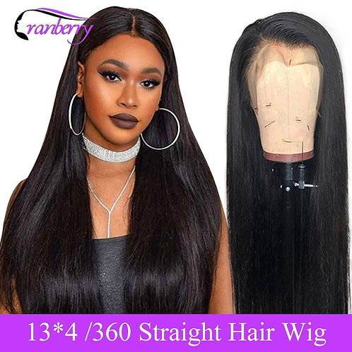 Cranberry Straight Lace Front Human Hair Wigs Pre Plucked Hairline