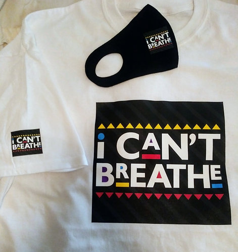 I Can't Breath Face Mask & T-Shirt Set