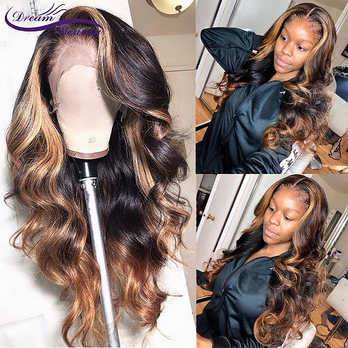 Highlight 360 Lace Frontal Wig Brazilian Hair
