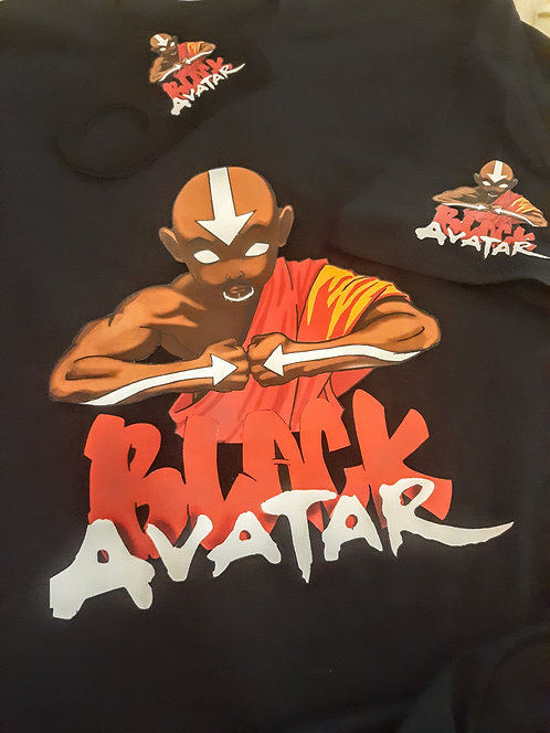Black Avatar Face Mask & T-Shirt Set