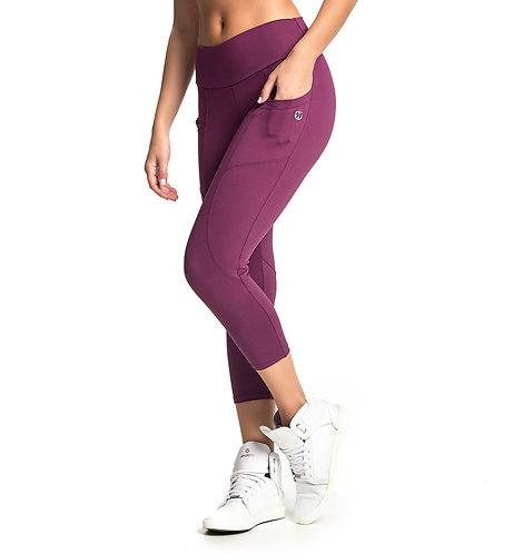 Mid Rise Capri With Pockets - Energy