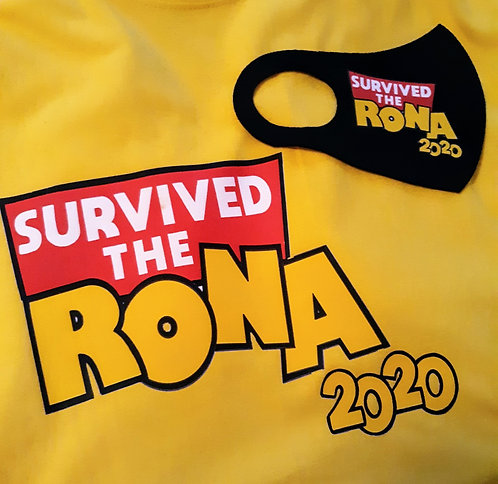 Survived The Rona Face Mask & T-Shirt Set