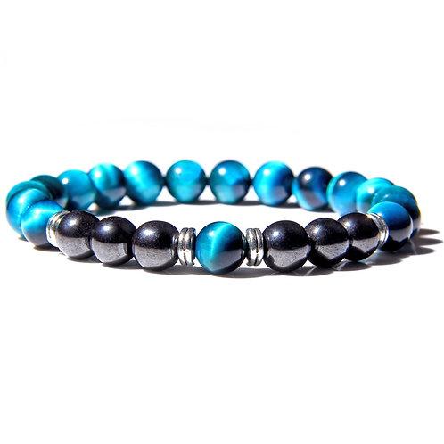 Natural Polished Blue Tiger Eye Stone Bracelets