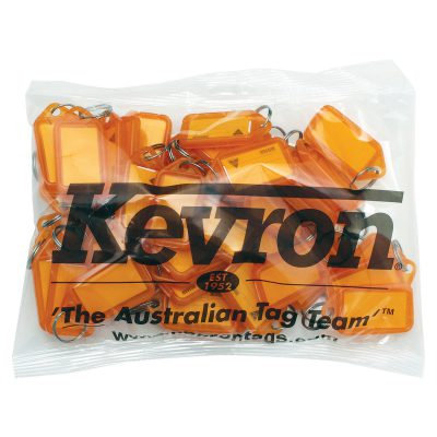 Kevron ID5 Orange Key Tags KID5ORG