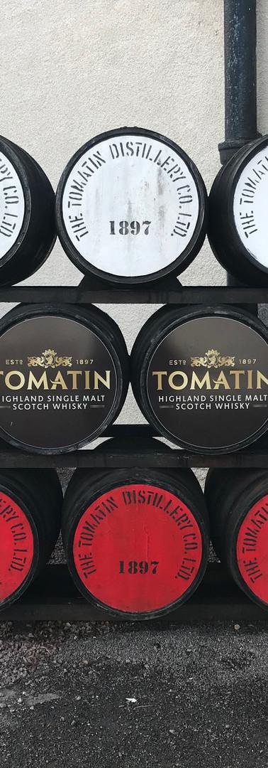 Tomatin Distillery Barrels