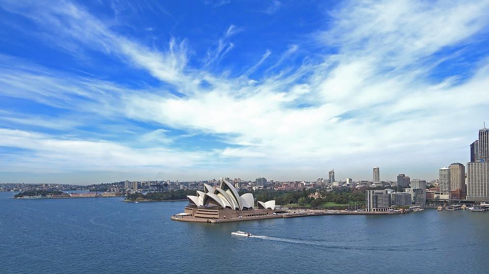 Opéra House Sydney vue de l'extérieur