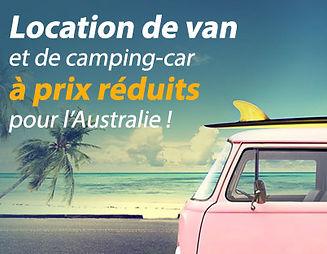Location de van et de campingcar en australie