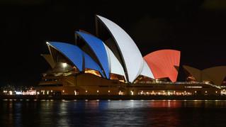 Attentats de Paris : hommage de l'opéra de Sydney