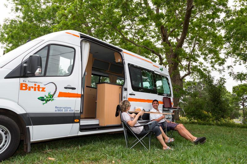 Type de Location de camping-car du groupe Britz en Australie