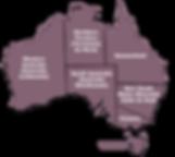 Carte des états d'Australie