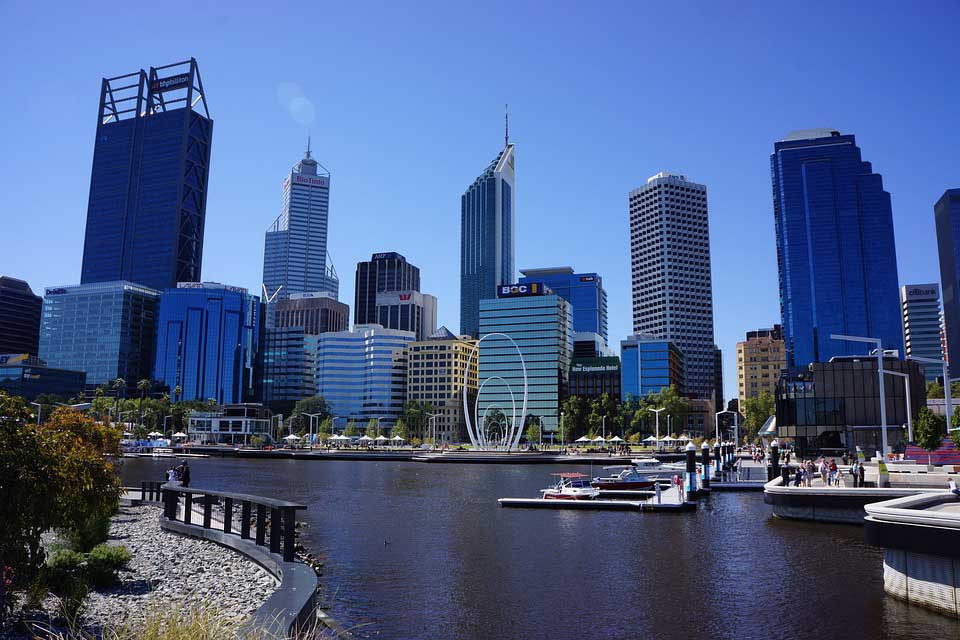 Ville de Perth, australie occidentale