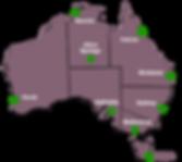 Carte des villes en Australie