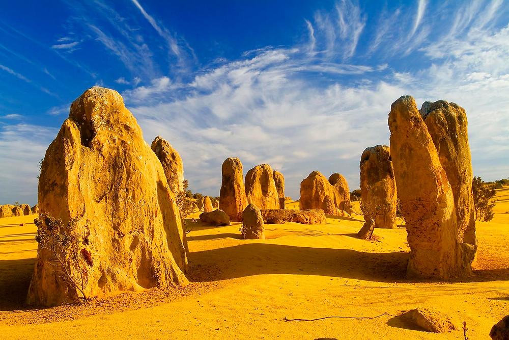Désert des pinnacles en Australie