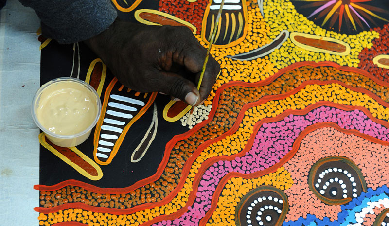 La peinture aborigène, l'art aborigène, la culture aborigène