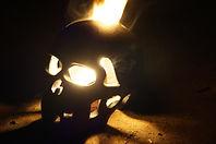brennender Totenschädel Piratenfeuershow
