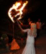 Feuerherz Hochzeitsfeuershow