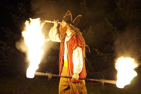 Piratenfeuershow