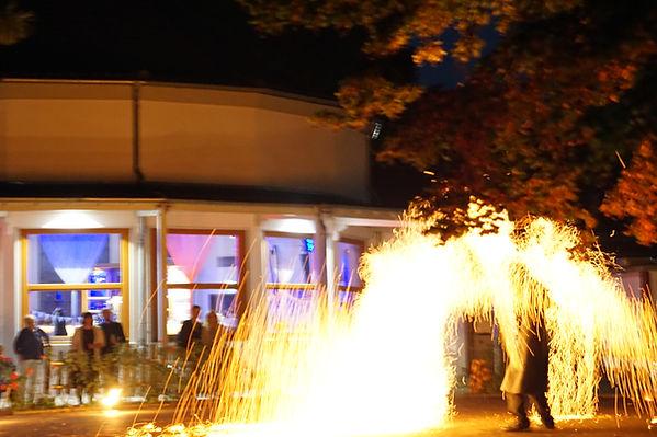 Feuershow Paradiescafe Jena