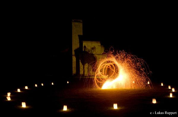 Feuershow Ilmpark Weimar