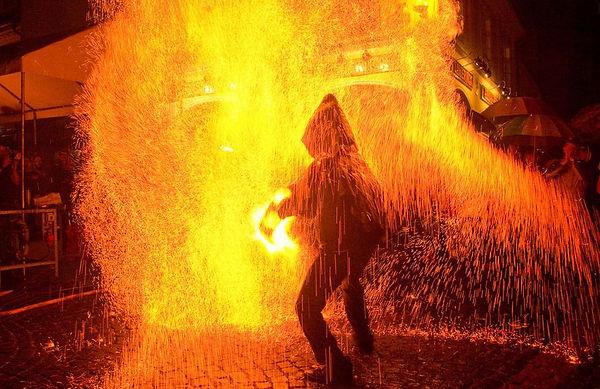 Feuershow Gotha Buttermarkt