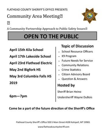 Sheriff reps to visit Bigfork on May 2