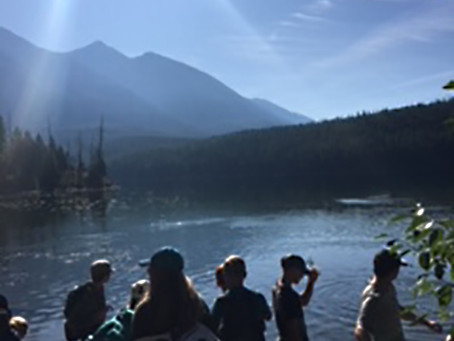 SWAN RIVER SCHOOL Students hike to Holland Lake