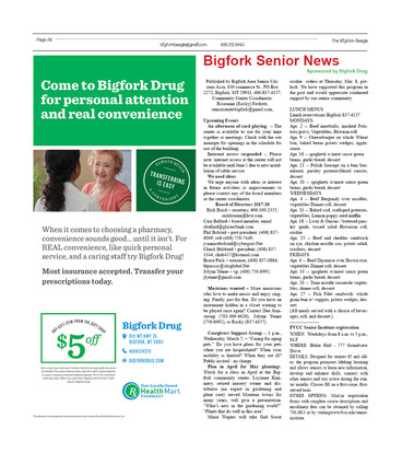 Bigfork Senior News
