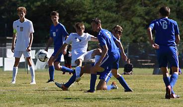 Futbol: The Bigfork Vals and Vikes soccer teams.