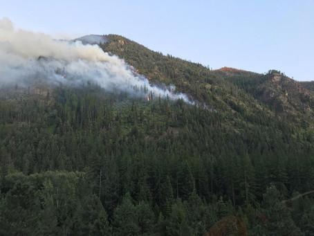 FIRE SMOKE DARKENS WESTERN MONTANA SKIES