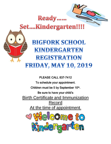 Register for kindergarten