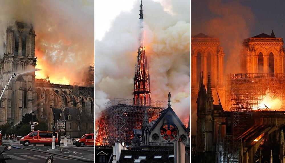 Notre Dame Cathedral/Paris,France 2019/Burning