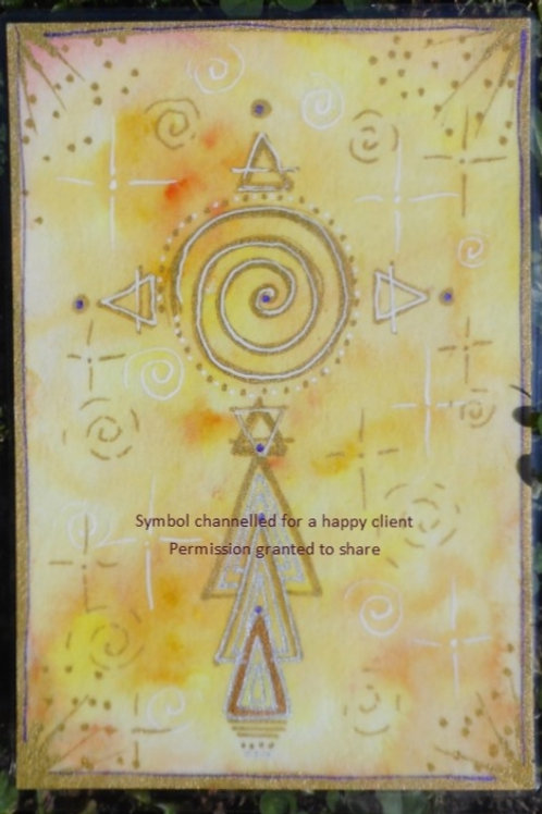 Remote Energy Healing with Channelled Art Symbol