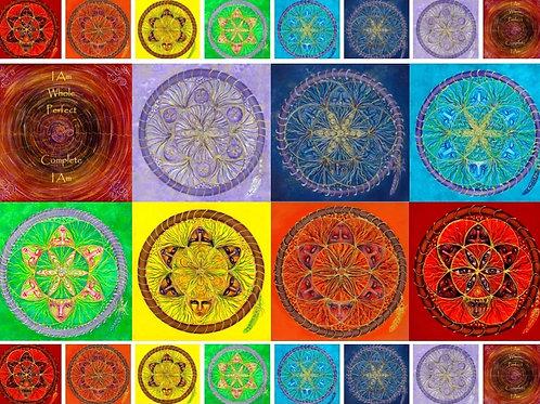 Sacred Seed Chakra Mandalas set of 7 plus bonus image