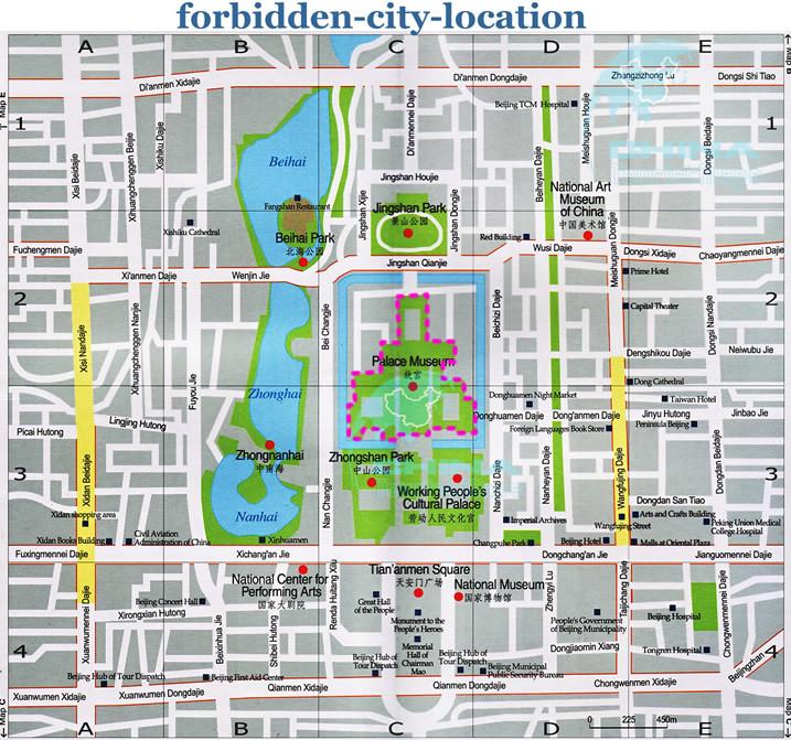 Forbidden City location