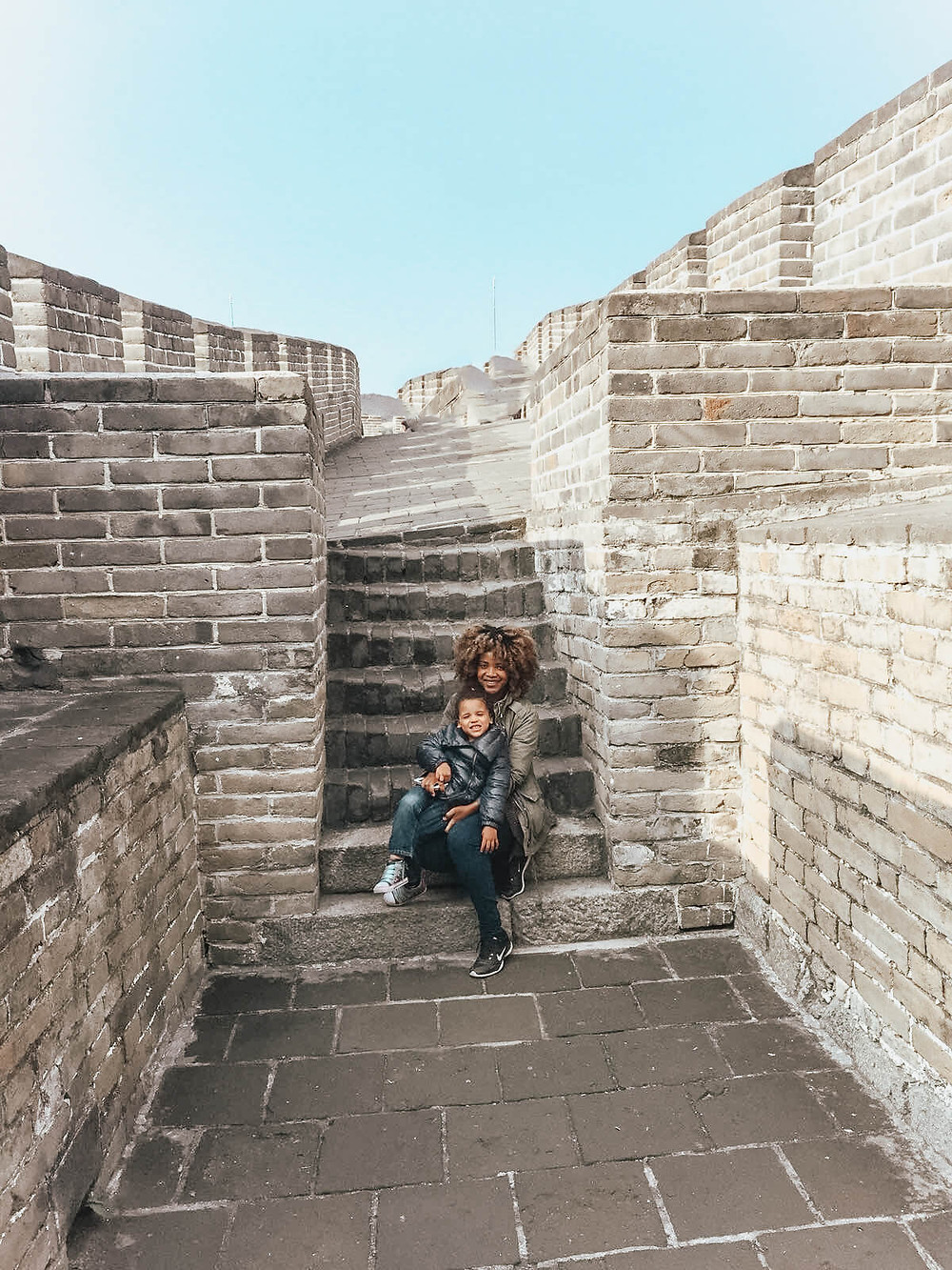 the great wall of China with Mum